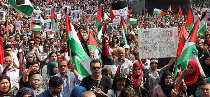 Dünyada Gazze'ye Destek Gösterileri
