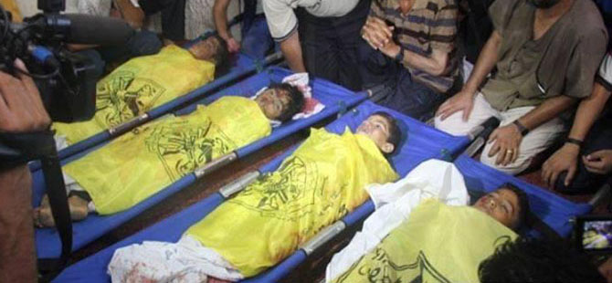 İsrail, Gazze Sahilinde 4 Çocuğu Katletti (FOTO)