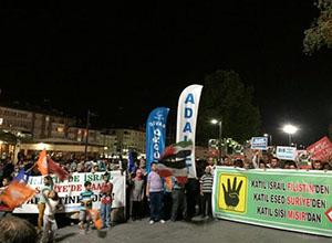 Sivas'ta İsrail'i Protesto; Şehitlerimiz İçin Dua (FOTO)