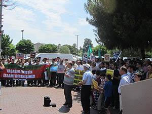 Akhisar'da İsrail Protestosu
