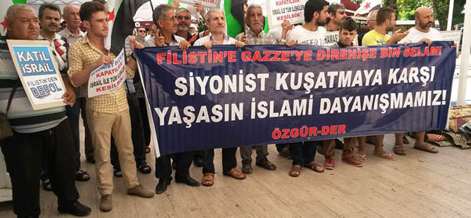 Siyonist İsrail'in Katliamları Antalya'da Protesto Edildi