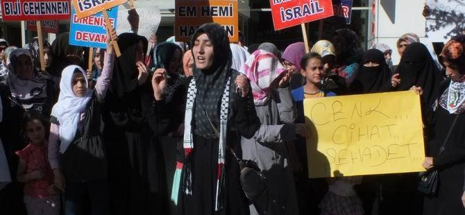 Tatvan'da Siyonist İsrail Saldırısı Protesto Edildi
