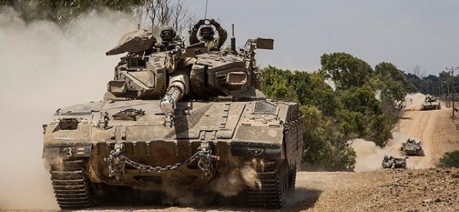 Siyonist İsrail'den Gazze'ye Yoğun Bombardıman