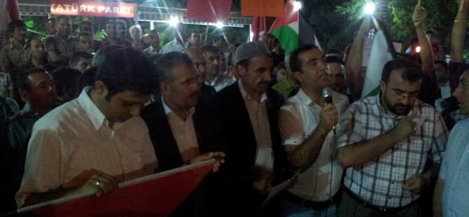 Muşlu Müslümanlar Siyonist İsrail'i Tel'in Etti