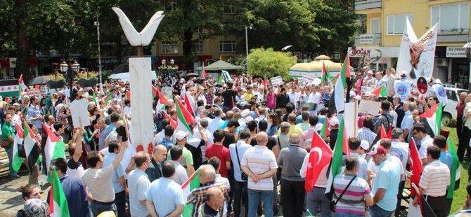 Siyonist İsrail Koceli'de Protesto Edildi