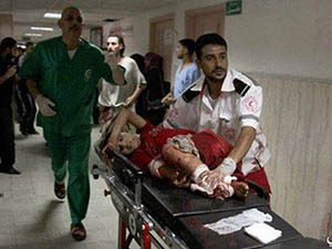 İsrail 350 Bin Kişiye Hizmet Veren Hastaneyi Vurdu (FOTO)