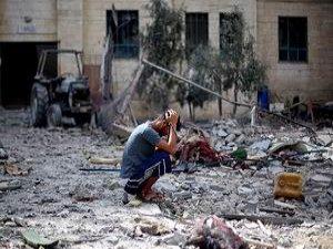 Siyonist İsrail Huza'ya Saldırıyor
