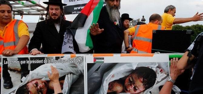 Paris'teki Filistin'e Destek Gösterisine Hahamlar da Katıldı