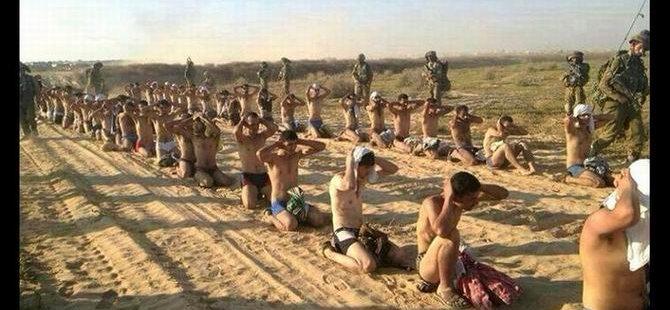 Siyonist İsrail'den 'Çıplak Gözaltı' (FOTO)