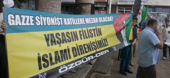 Eynesil'de Gazze ve Suriye Direnişine Destek