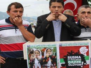 Siyonist İsrail'e Karadeniz Usulü Protesto