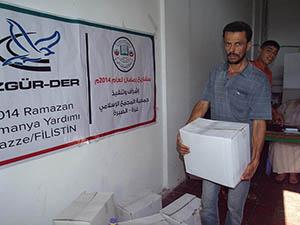 Özgür-Der Kumanyaları Gazze'de Dağıtılmaya Devam Ediyor