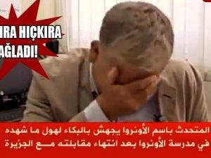 BM Sözcüsü Röportajda Hıçkıra Hıçkıra Ağladı