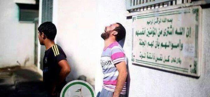 Gazze'de Morgun Kapısında Yazan Ayet