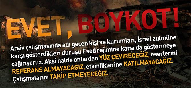 Yazarlara Boykot Listesine Dair...
