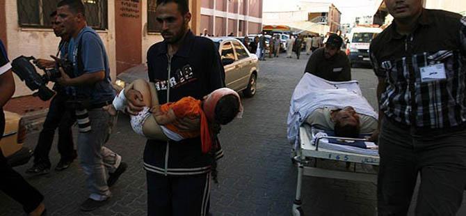 İsrail Gazze'yi 67 Yerden Vurdu