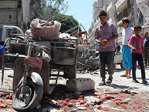 Esed, Halep'te Pazar Yerini Vurdu: 30 Şehit