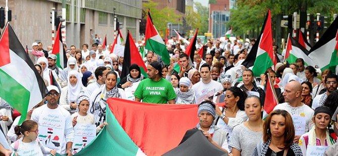 Brüksel'de ''Filistin İçin Beyaz Yürüyüş''