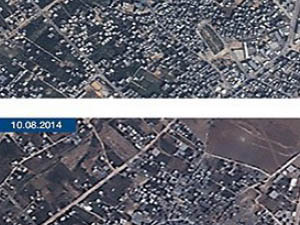 Uydu Fotoğraflarıyla Gazze'deki Yıkım