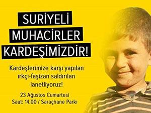 """""""KARDEŞİME DOKUNMA"""" Eylemlerine Davet"""