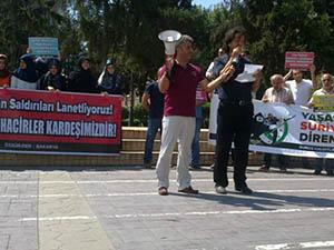 Sakarya'da Suriyeli Muhacirlere Destek Eylemi