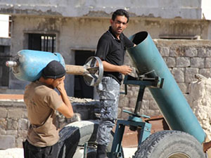 """Halep'te """"Cehennem Topu"""" İle Direniş"""
