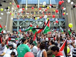Brüksel'de ''Filistin için Beyaz Yürüyüş'' Düzenlendi
