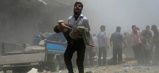 Suriye'de 21'i Çocuk 98 Kişi Katledildi (VİDEO)
