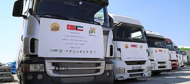 İHH Suriye'ye 22 TIR İnsani Yardım Gönderdi