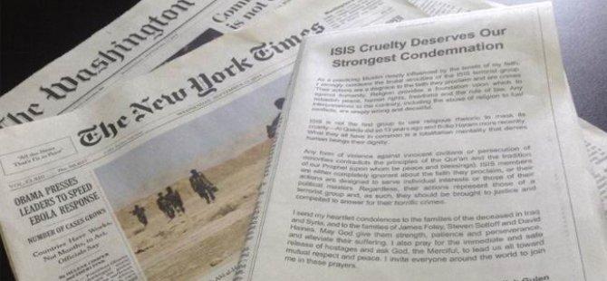 Fethullah Gülen'in Amerikan Gazetesinde Asıl İlan Etttiği