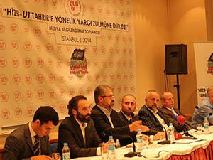 """""""Hizb-ut Tahrir'e Yönelik Yargı Zulmüne Dur De"""" Toplantısı"""