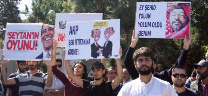 ABD Saldırıları Kayseri'de Protesto Edildi