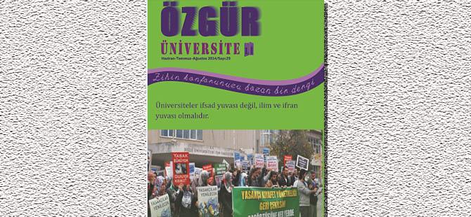 Özgür Üniversiteli Dergisinin 29. Sayısı Çıktı