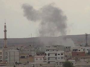 ABD, Kobani'de IŞİD Mevzilerini ve Bir Camiyi Vurdu