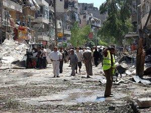 Katil Esed Pazar Yerini Bombaladı (VİDEO)