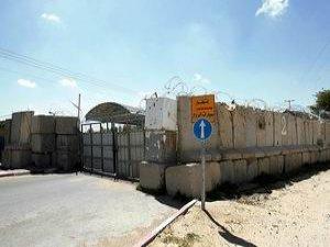 Siyonist İsrail Kerm Ebu Salim Sınır Kapısı'nı Kapattı
