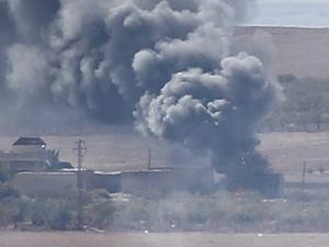 ABD, Kobani'deki IŞİD Hedeflerini Bombaladı