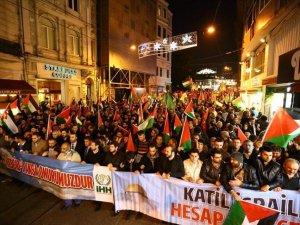 İstanbul ve Ankara'da Siyonist İsrail Protestosu