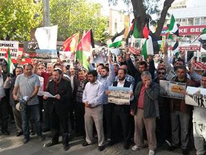 Siyonist İsrail Antalya'da Protesto Edildi