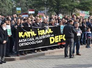 Siyonist İsrail Çetesi Amasya'da Protesto Edildi