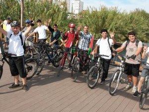Antalya'da Filistin'e Destek İçin Bisiklet Turu
