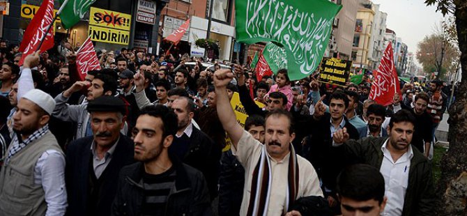 Mescid-i Aksa Baskını İstanbul'da Protesto Edildi