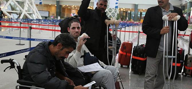 Filistinli Yaralılar Ülkelerine Döndüler