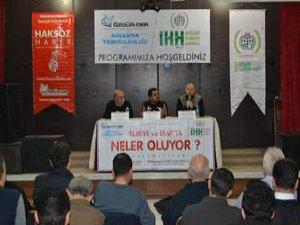 """Amasya'da """"Suriye ve Irak'ta Neler Oluyor"""" Konulu Panel Yapıldı"""