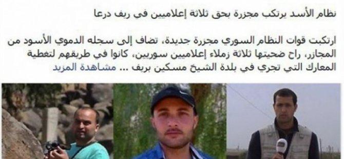 Suriye'de Üç Gazeteci Öldürüldü