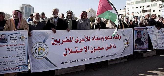 Filistinli Tutuklular İçin Gazze'de Gösteri Düzenlendi