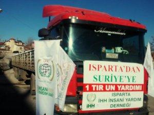 Isparta'dan Suriye'ye 26. Yardım Tırı