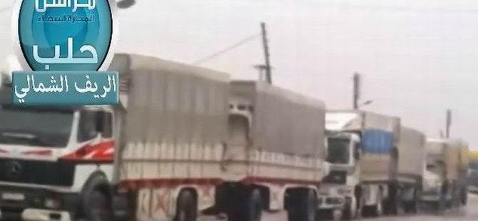 PKK Kontrolündeki Esed'in 25 Tırlık Konvoyuna El Konuldu (VİDEO)