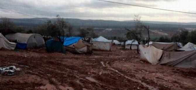 Şiddetli Yağışlar Atme Çadır Kentini Vurdu (FOTO)