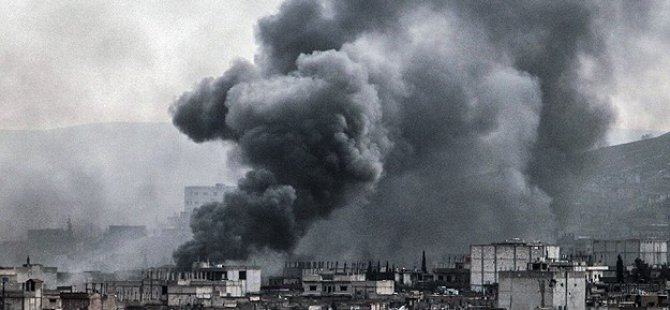 Kobani'de IŞİD Mevzileri Bombalandı